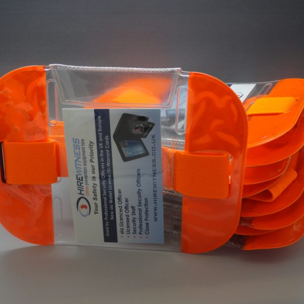 10 Orange Tactical ID Arm Bands (HW407)