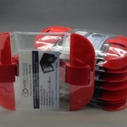 10 Red Tactical ID Arm Bands (HW402).