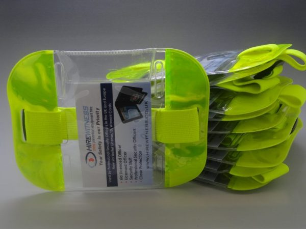 10 Yellow Tactical ID Arm Bands (HW404)