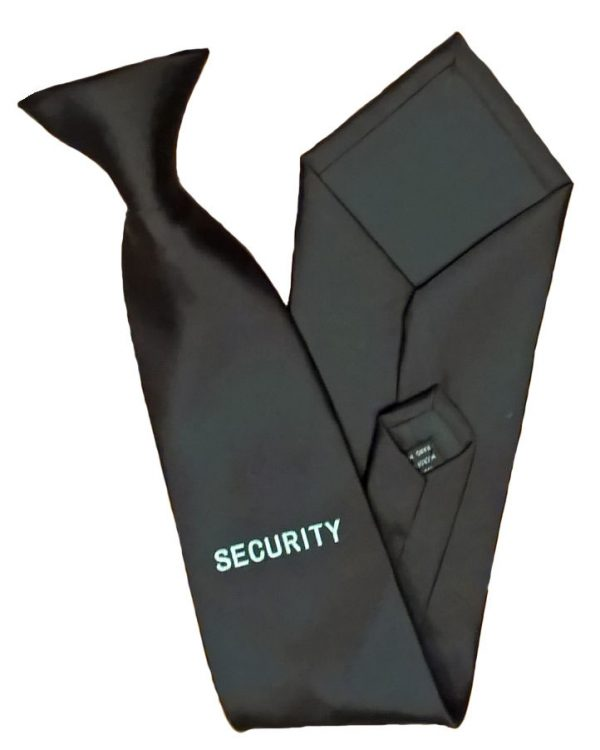 Black-Security-Clip-On-Tie-For-Professional-Officers