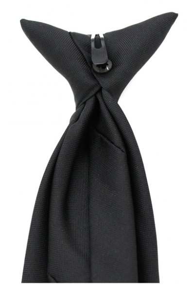 Black-Security-Clip-On-Tie-For-Professional-Officers-3