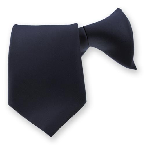 Clip On Tie Navy Blue(HW408)
