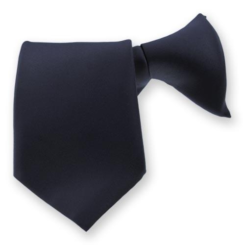 Clip On Tie Navy Blue(HW408)