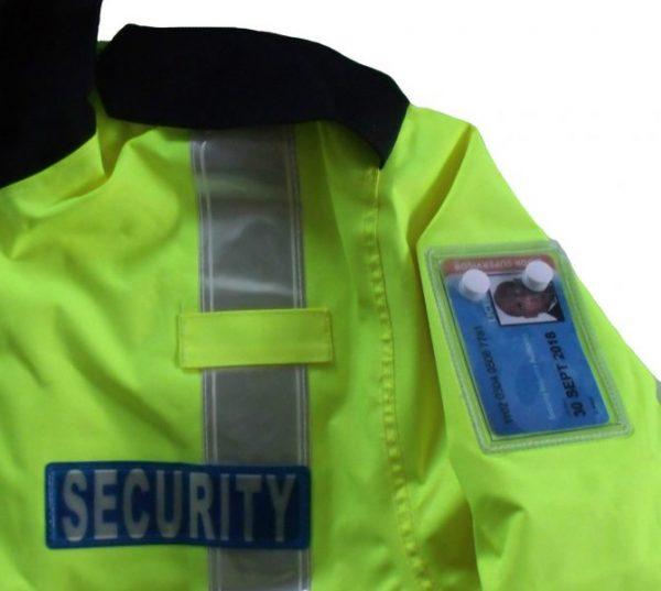 Hi Viz Two-Tone Security Officers Waterproof Hooded Winter Coat