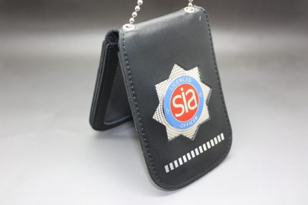 SIA LICENCE CARD RED NECK HOLDER AND WALLET WITH SECURITY BADGE