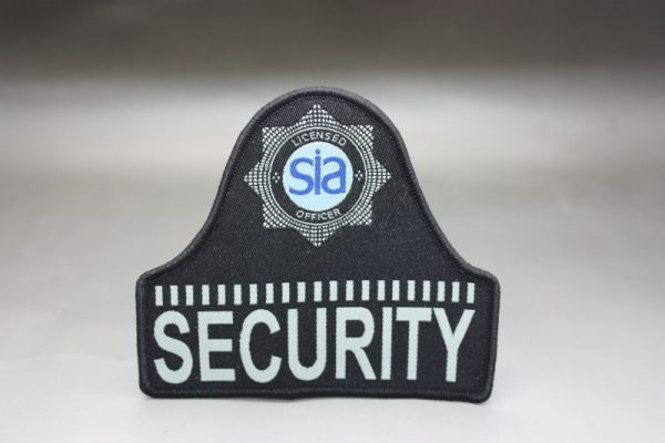 SIA LICENSED SECURITY OFFICERS BELL SHAPED BADGE BLUE