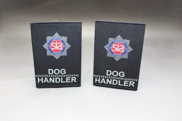SIA SECURITY DOG HANDLER BADGED EPAULETTES