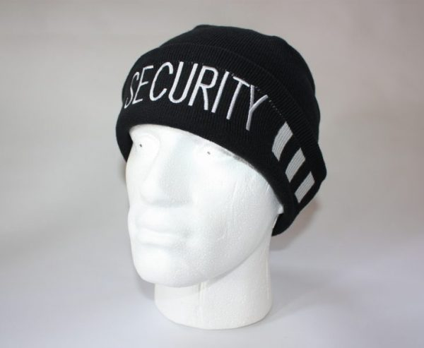 3f94cd171 SIA SECURITY OFFICER BLACK KNITTED BOB BEANIE HAT - (HW333)