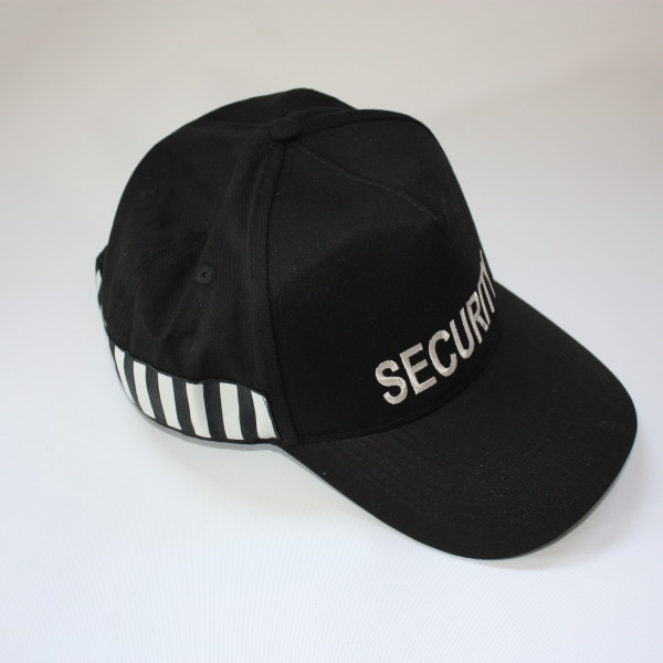 Uk Security Officers Baseball Cap Hat With Duty Stripe