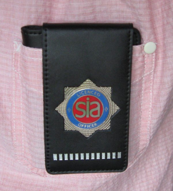 SIA LICENCE RED HOLDER/WARRANT CARD WALLET