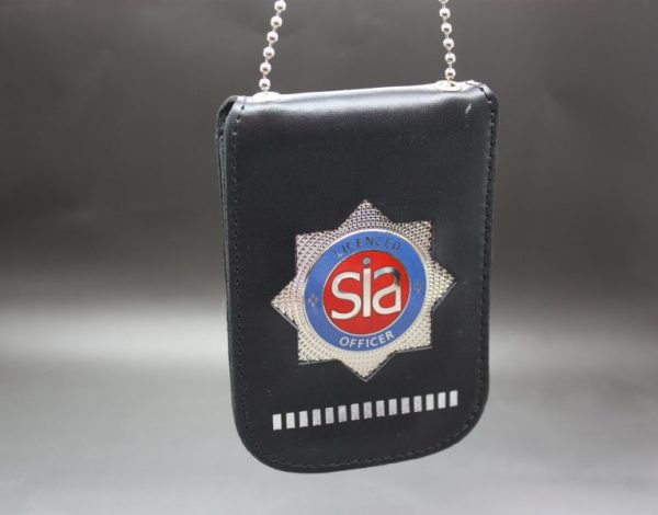 SIA LICENCE CARD RED NECK HOLDER AND WALLET WITH SECURITY BADGE 1