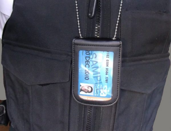 SIA LICENCE CARD BLUE NECK HOLDER AND WALLET WITH SECURITY BADGE